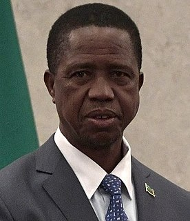 Edgar Lungu President of Zambia (2015–2021)
