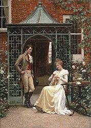 Edmund blair leighton courtship dating