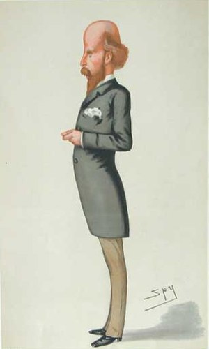 """Edward Jenkins (MP) - """"Ginx's Baby"""" Jenkins as caricatured by Spy (Leslie Ward) in Vanity Fair, August 1878"""