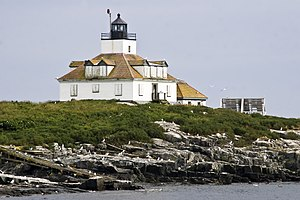 Hancock County, Maine - Image: Egg Rock Light Frenchman Bay ME