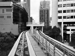 Eighth Street station with BCC construction (Metromover) 2015.jpg