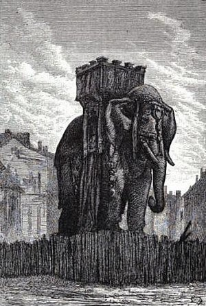 Elephant of the Bastille - An 1865 illustration by Gustave Brion for Les Misérables