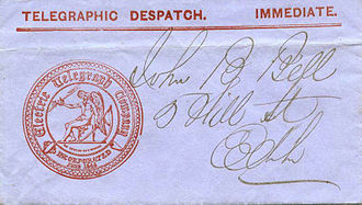 Electric Telegraph Company - Part of a document showing the company seal