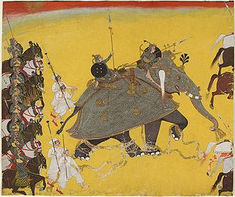 Shah Shuja (Mughal prince) - Armored elite War elephant from the battalion of Shah Shuja.