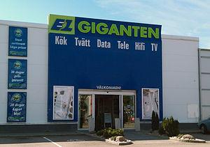 Elgiganten - An Elgiganten store in Varberg, Sweden.