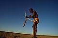 Elia Fester, Kalahari Khomani San Bushman, Boesmansrus camp, Northern Cape, South Africa (19919661063).jpg