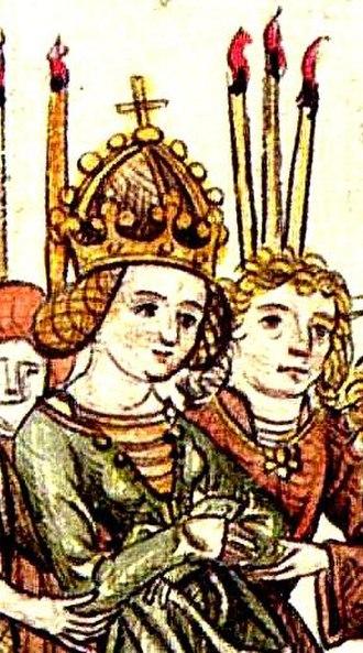 Elizabeth of Luxembourg - Image: Elisabeth of Luxemburg Meister der Chronik des Konzils von Konstanz 001
