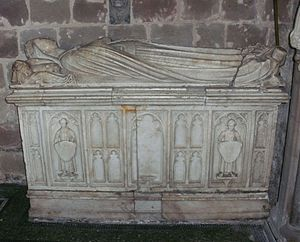 Gilbert Talbot (soldier) - Tomb of Sir Gilbert Talbot's first wife, Lady Elizabeth Talbot (née Greystoke, died 1490)