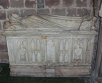 Gilbert Talbot (soldier) - Tomb of Sir Gilbert Talbot's first wife, Lady Elizabeth Talbot (née Greystoke, died 1490)
