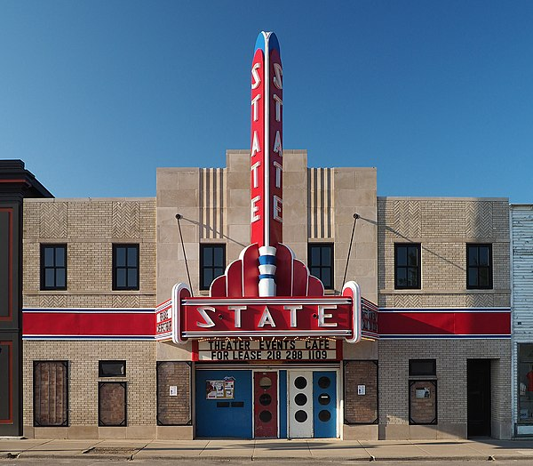 The historic Ely State Theater, located in Ely, Minnesota.
