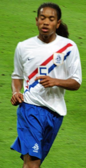 Urby Emanuelson - Emanuelson in action for the Netherlands.