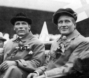 Taavi Tamminen - Emil Väre and Taavi Tamminen (right) at the 1920 Olympics