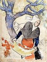 Emile Bernard 1887 La récolte des pommes.jpg