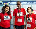 Emna, Aboubacar et Diane - WikiConvention fr 2019 (cropped).jpg