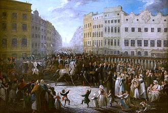 Michał Stachowicz - Image: Enter of Prince Józef Poniatowski to Kraków in 1809