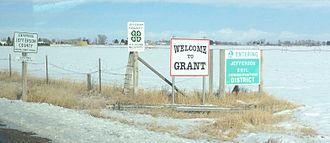 Jefferson County, Idaho - Image: Entering Grant, Idaho