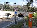 Entrée tunnel de la Croix-Rousse et borne SOS côté Saône (fév 2019).jpg