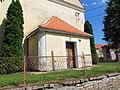 Entrance of Church of Saint Wenceslaus in Račice, Třebíč District.JPG