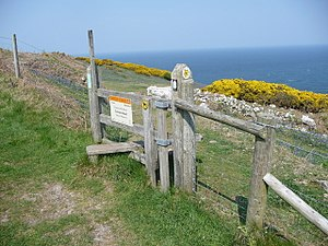 Cemaes Head - The stile entrance to Cemaes Head Nature Reserve