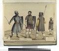 Epoca Gotica Siglos del V al VII. Siervo, loricato y centrato; Siervo, centrato armada de espada y skrama; Siervo, armados de lanzas (NYPL b14896507-87344).tiff
