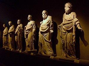 Giovanni Pisano - Image: Escultures dels Pisano al Museo dell'Opera del Duomo de Siena