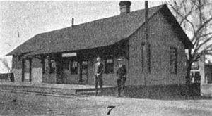 Española, New Mexico - The Española train depot, 1920