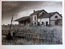 Antigua estación de vía estrecha de Peñarroya (Córdoba) en la línea de Puertollano