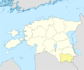Estonia Võru location map.png