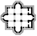 Etchmiadzin Cathedral 5th century plan.png