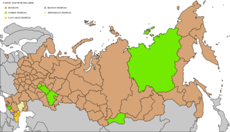 Ethnic groups in Russia - Image: Ethnic map of Russia 2010