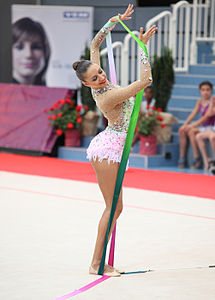 Evgenija Kanaeva al Grand Prix in Austria nel 2012.