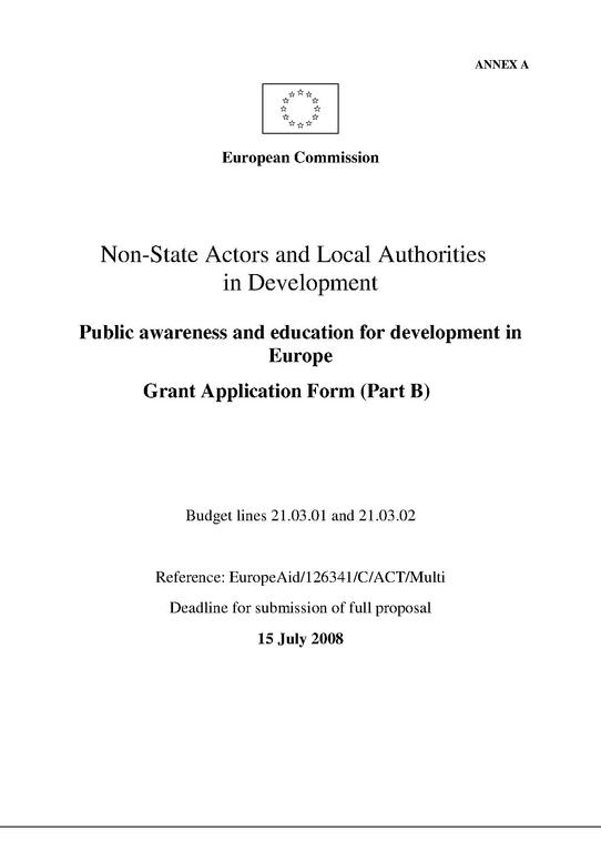 FileExample Of Grant Application Eu Projects  EugadPdf