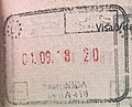 Exit stamp from Lithuania on the Russian border.jpg