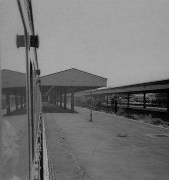 Exmouth railway station - The platforms in 1969