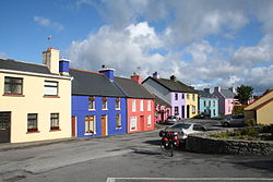 Painted houses in Eyeries