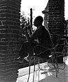 Férfi a teraszon, 1955. Fortepan 7320.jpg