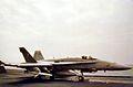 F-18C of VFA-83 on USS Saratoga (CV-60) 1991.jpg