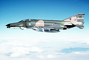 "F-4E-43-MC (AF Serial No. 69-7234) ""Wild Weasel"" modified to the F-4G configuration with an AGM-88 HARM missile under the wing. This aircraft was assigned to the 37th TFW, George AFB, California, April 1982"
