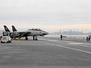 USS Hornet Museum - Preserved F-14 on deck, February 2009