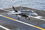 FA-18C Hornet of VFA-83 landing on USS Harry S. Truman (CVN-75) in November 2015.JPG