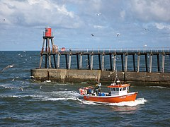FE21 Codonger Too entering Whitby harbour (geograph 3661119).jpg