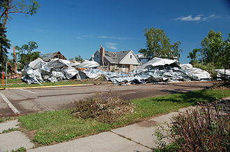Wadena, Minnesota - Damage from the tornado