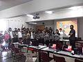 FLISOL 2014 en la Prepa 55 Chicoloapan, Estado de México, México, foto final del taller de python.JPG