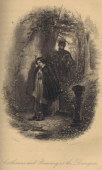 The Fair Maid of Perth - Illustration of Catharine and Ramorny from 1872 edition