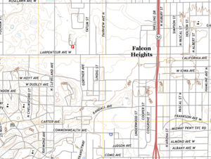Falcon Heights, Minnesota - Image: Falcon Heights, Minnesota, map (2016)