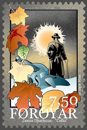Faroe stamp 502 Djurhuus poems - Cello