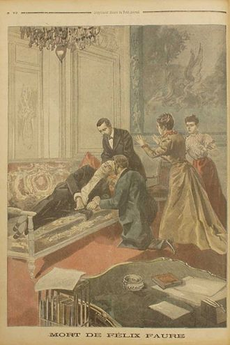 Félix Faure - Faure's death, as illustrated by Le Petit Journal.