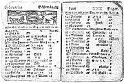 Calendario sueco - febrero de 1712