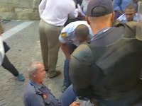 File:FeesMustFall protest outside Parliament - Manhandled protestor.ogv