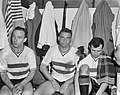 Feijenoord tegen Benfica 0-0 In de kleedkamer vlnr Bennaars, Kerkum en Moul, Bestanddeelnr 915-0331.jpg